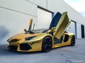 Lamborghini Aventador Gold Chrome Gold Lamborghini Aventador Ki Studios