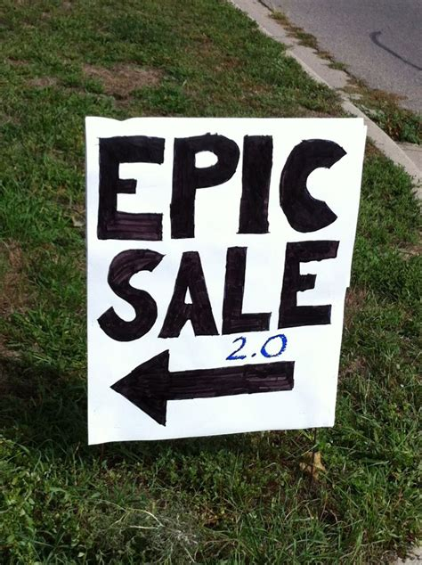yard sale sign that certainly gets your attention amusing