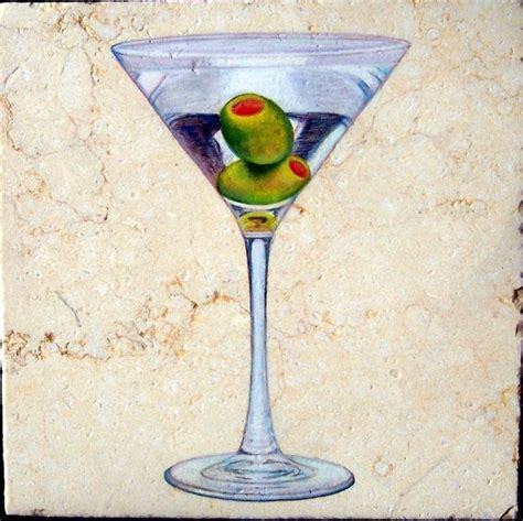martini glass acrylic painting 1000 ideas about tumbled stones on clear