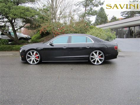 2017 bentley flying spur on rims flying spur savini wheels