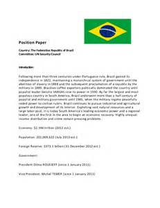 Position Essays by Position Paper Brazil Intro