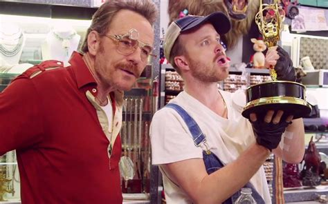 bryan cranston pawn shop bryan cranston and aaron paul team up for hilarious emmys