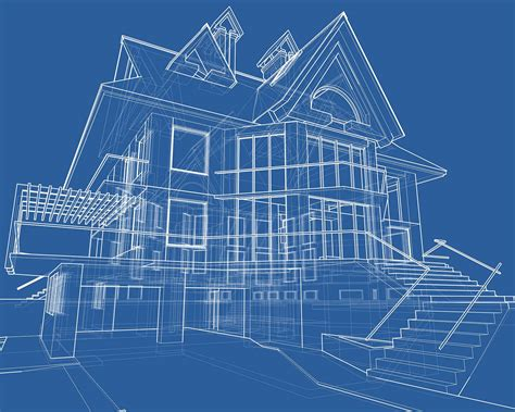 blueprint houses from multi view image to 3d drawings computer