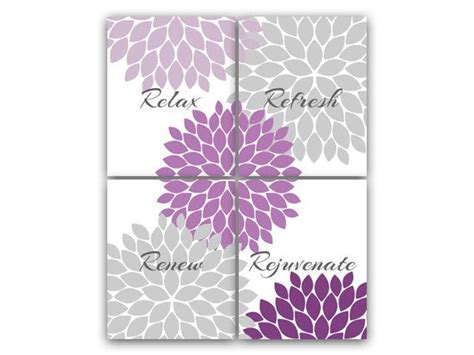 purple bathroom wall art purple gray bathroom decor modern bathroom art
