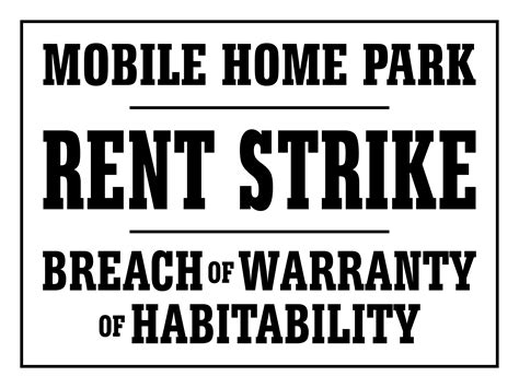 rent strike california mobile home parks