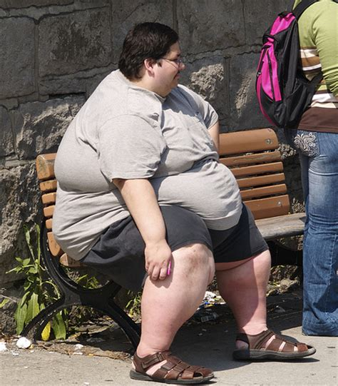 fat lady on bench balancing jane november 2011