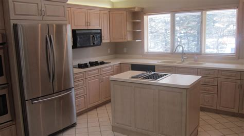 refinished kitchen cabinets kitchen cabinet refinishing before and after edgarpoe net