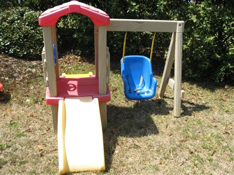 little tike slide and swing little tikes swing and slide treehouse 35 photo by