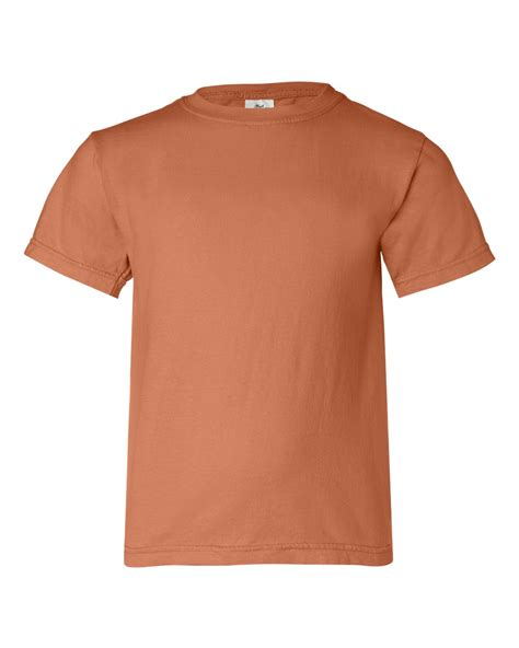 comfort colors burnt orange comfort colors pigment dyed ringspun youth t shirt 9018