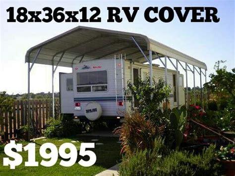 rv cover carport metal building steel shelter utility shed garage ebay