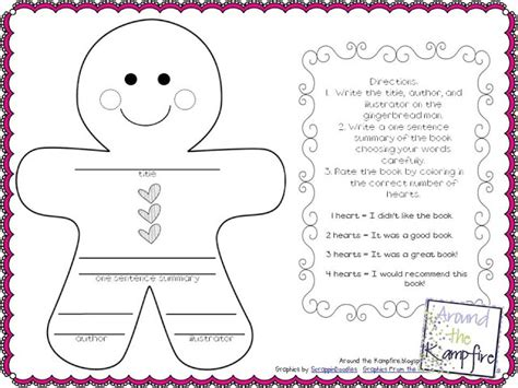 gingerbread story map template printable gingerbread story map template free