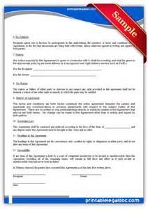 free printable confidentiality agreement form generic
