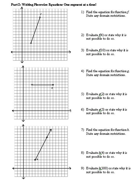 Piecewise Function Worksheet by Piecewise Word Problems Worksheet With Answers Worksheets