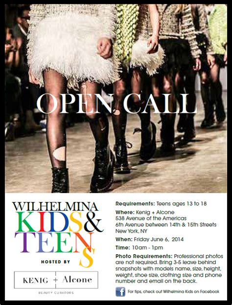 Teen Models New York Open Calls | wilhelmina models is holding an open casting call for