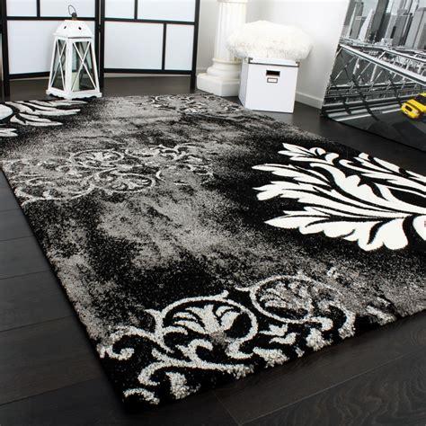 tappeto nero moderno tappeto design moderno lavorato a mano con bordo grigio