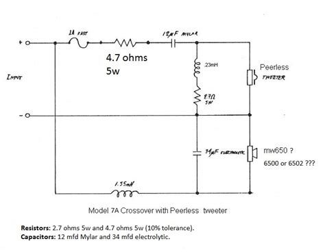 audio crossover circuit diagram wiring diagrams wiring