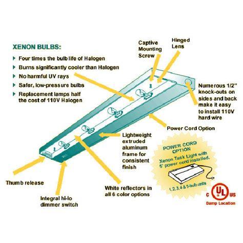 nsl xenon task light nsl xtl 4 hw wh 34 5 in xenon under light