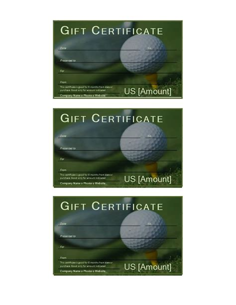 Golf Gift Card Template by 17 Best Ideas About Gift Certificate Templates On
