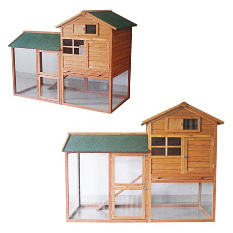 7ft Rabbit Hutch 7ft large rabbit hutch with run pet house home ferret and guinea pig pen cage ebay