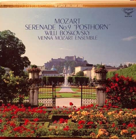 Vinyl Piringan Hitam Mozart Serenade No 9 In D Major Posthorn Mozart Vienna Mozart Ensemble Boskovsky With Adolf