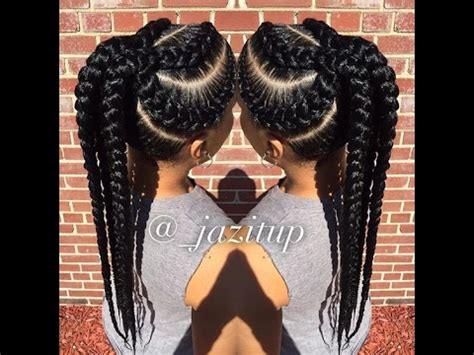 Big Cornrows Hairstyles by Unique Big Cornrow Hairstyles For Beautiful Jumbo