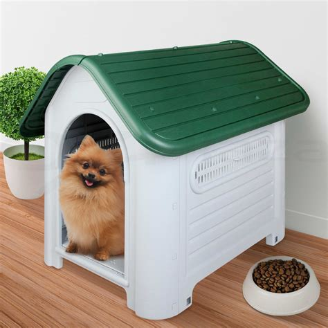 indoor dog houses for large dogs pet dog kennel weatherproof plastic outdoor indoor puppy