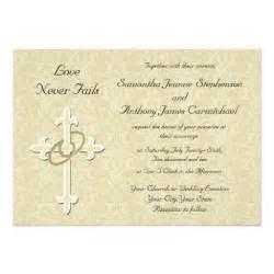 golden rings christian wedding invitations 5 quot x 7 quot invitation card zazzle