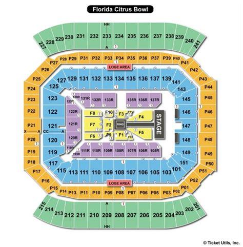 citrus bowl stadium seating map citrus bowl stadium seating chart brokeasshome