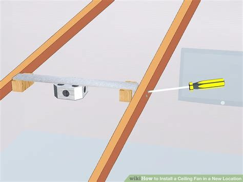 how to install a ceiling fan in a mobile home how to install a ceiling fan in a location with pictures