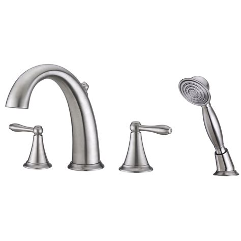 handheld faucet for bathtub contour collection roman tub faucet with hand shower