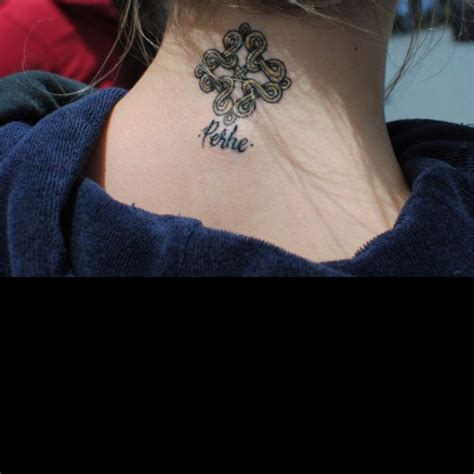 finnish tattoos perhe means quot family quot in the design is also