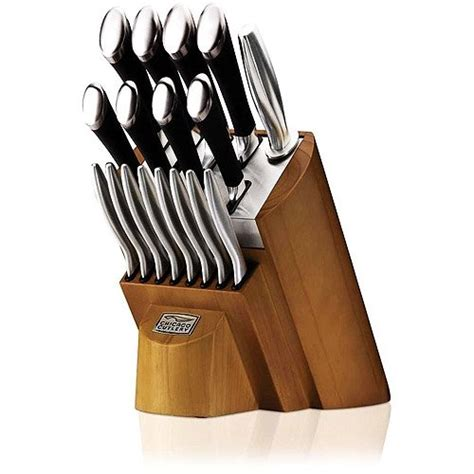 chicago cutlery kitchen knives chicago cutlery fusion 18 knife set review with block