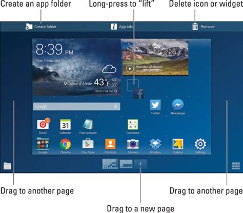R Samsung Widget How To Move Or Remove Icons Or Widgets On Your Samsung Galaxy Tab S Dummies