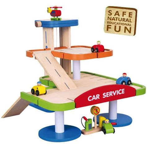 Wooden Garage For Toddlers by Childrens Wooden Multi Storey Car Park Boys Garage