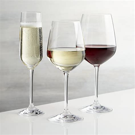 crate and barrel barware nattie wine glasses crate and barrel