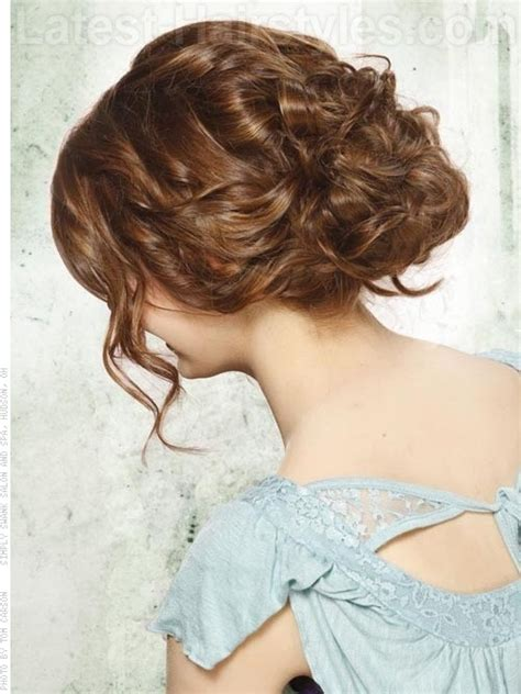 Curls Pinned Up Hairstyles by Curly Pinned Up Hairstyle Hairstylegalleries