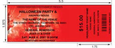 halloween tickets design and print your own halloween