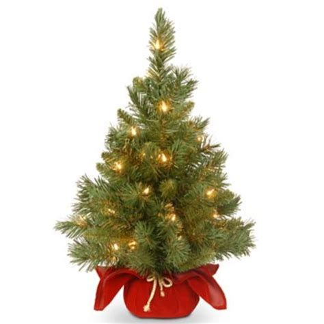 table top christmas tree in pleiglass with falling snow buy lighted tabletop tree from bed bath beyond