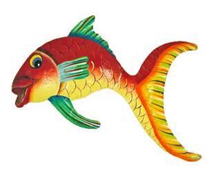 tropical fish big wall decor haitian metal ebay