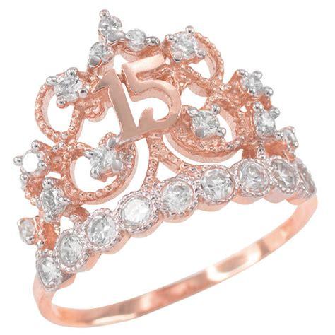 princess 14k gold quincea 241 era anillo filligree 15