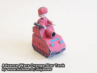 Advance Wars Papercraft - advance wars orange tank papercraft papercraft