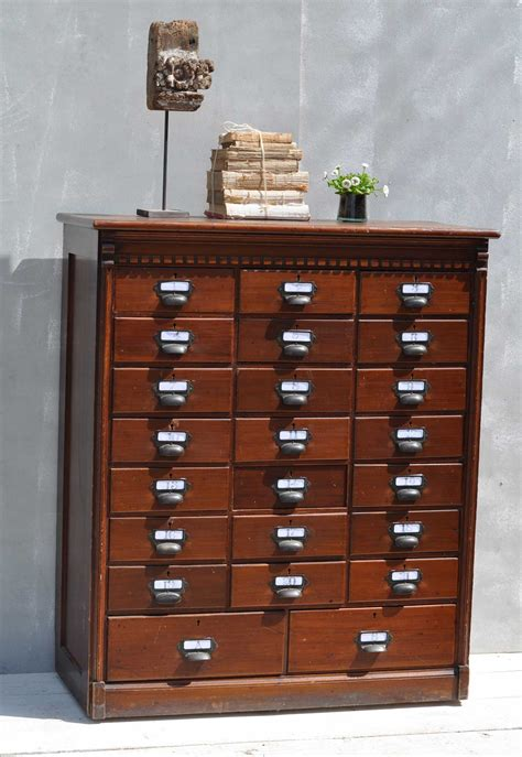multi drawer wood filing cabinet home barn vintage