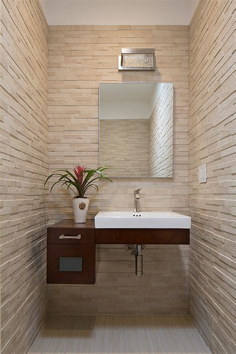 Tableau De Vanité by Ronbow Vanity Powder Room Contemporary With Floating