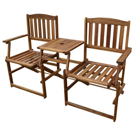 Folding Patio Table Set Patio Wise Folding Chair Set With Built In Table Acacia Wood Pwfn 018 Patio Wise