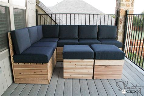 diy outdoor sectional plans diy modular outdoor seating shanty 2 chic