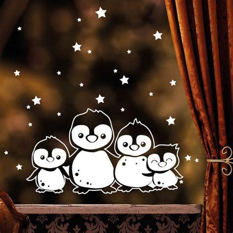Fensterdeko Weihnachten Aufkleber by Aufkleber Fensterbild Pinguin Familie Weihnachten
