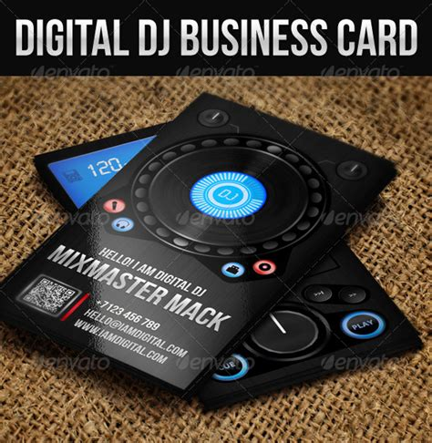 Digital Dj Business Card Template Free by 56 Visually Stunning Psd Business Card Templates Web