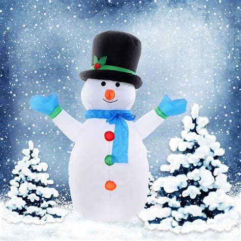 4 ft waterproof inflatable christmas tree decoration lawn convenience boutique christmas snowman decoration 4 ft air