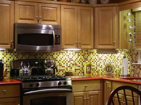 Mosaic Tile Backsplash Kitchen Red Yellow White Bijou Glass Mosaic Tiles For