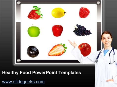 healthy food powerpoint template healthy food power point templates